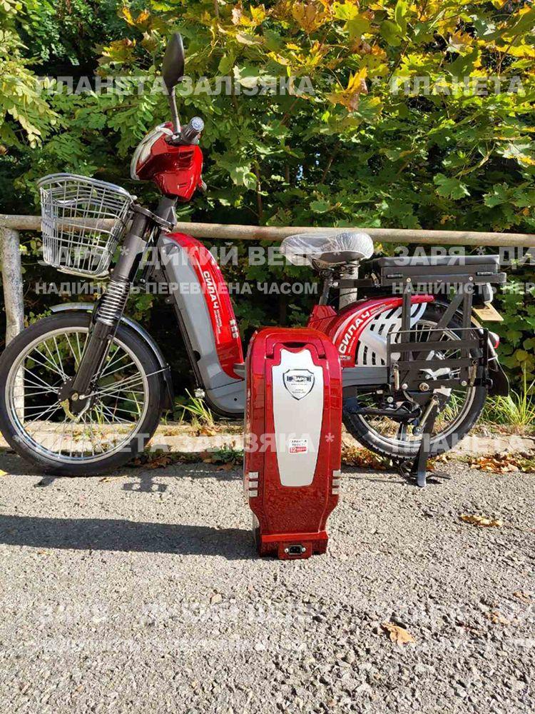 Електровелосипед Заря Силач (450W-60V) червоний (літій-іонна АКБ)