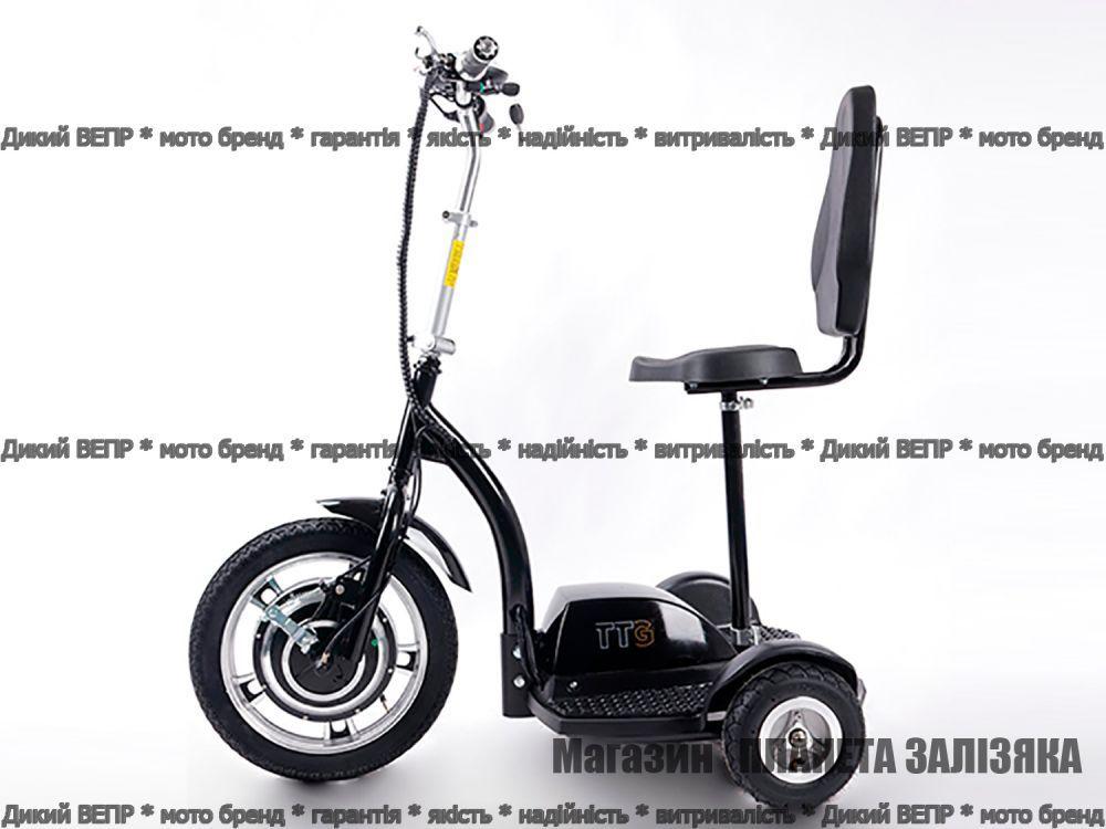 Електросамокат T06-1 36V 350W 12Ah - SM чорний з сидінням (сидіння - спинка)