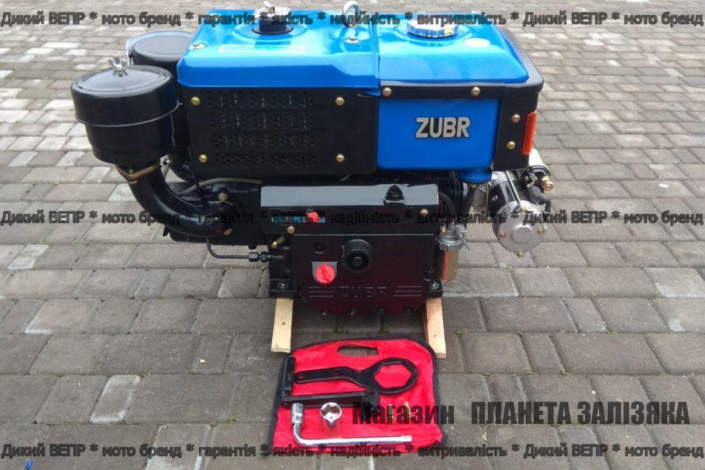 Двигун дизельний Зубр JR-Q12E R195NM 12 к.с. електростартер до мотоблоків