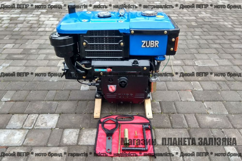 Двигун дизельний Зубр Плюс 190N 10 к.с. JR-Q79 до мотоблока
