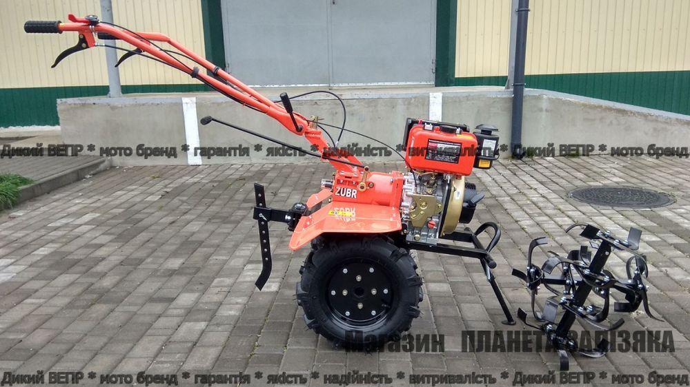 Мотоблок Зубр HT-105 6 к.с. (XA-31) дизельний з диференціалом