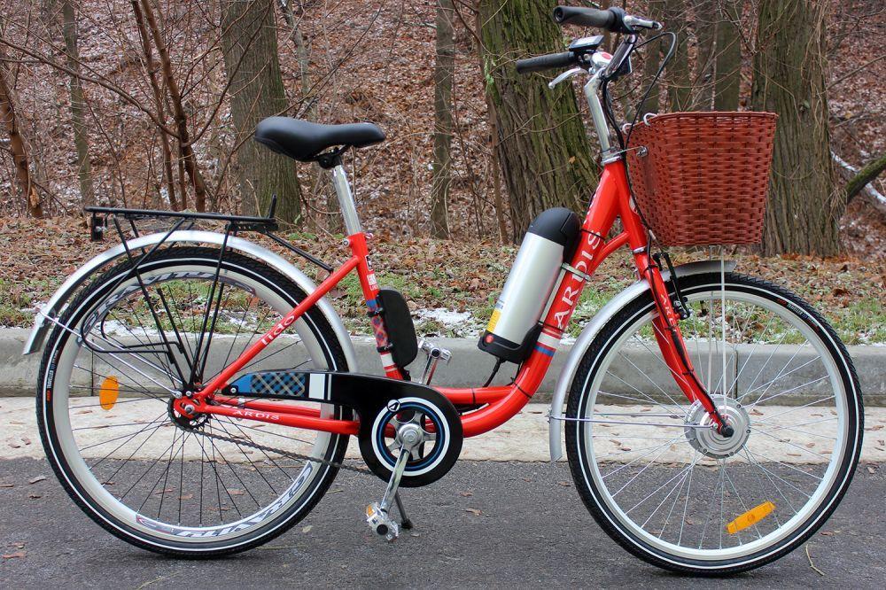 Велосипед з електронабором 350W Li-ion передній R26