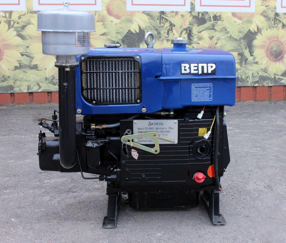 Двигун дизельний Вепр 151E 15 к.с. електростартер до мототрактору